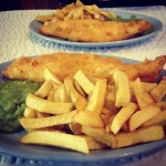 Fish and chips in Longnor