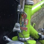 Claud Butler metal head badge