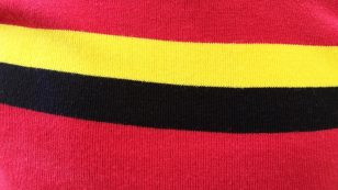 Belgium cycle jersey close up